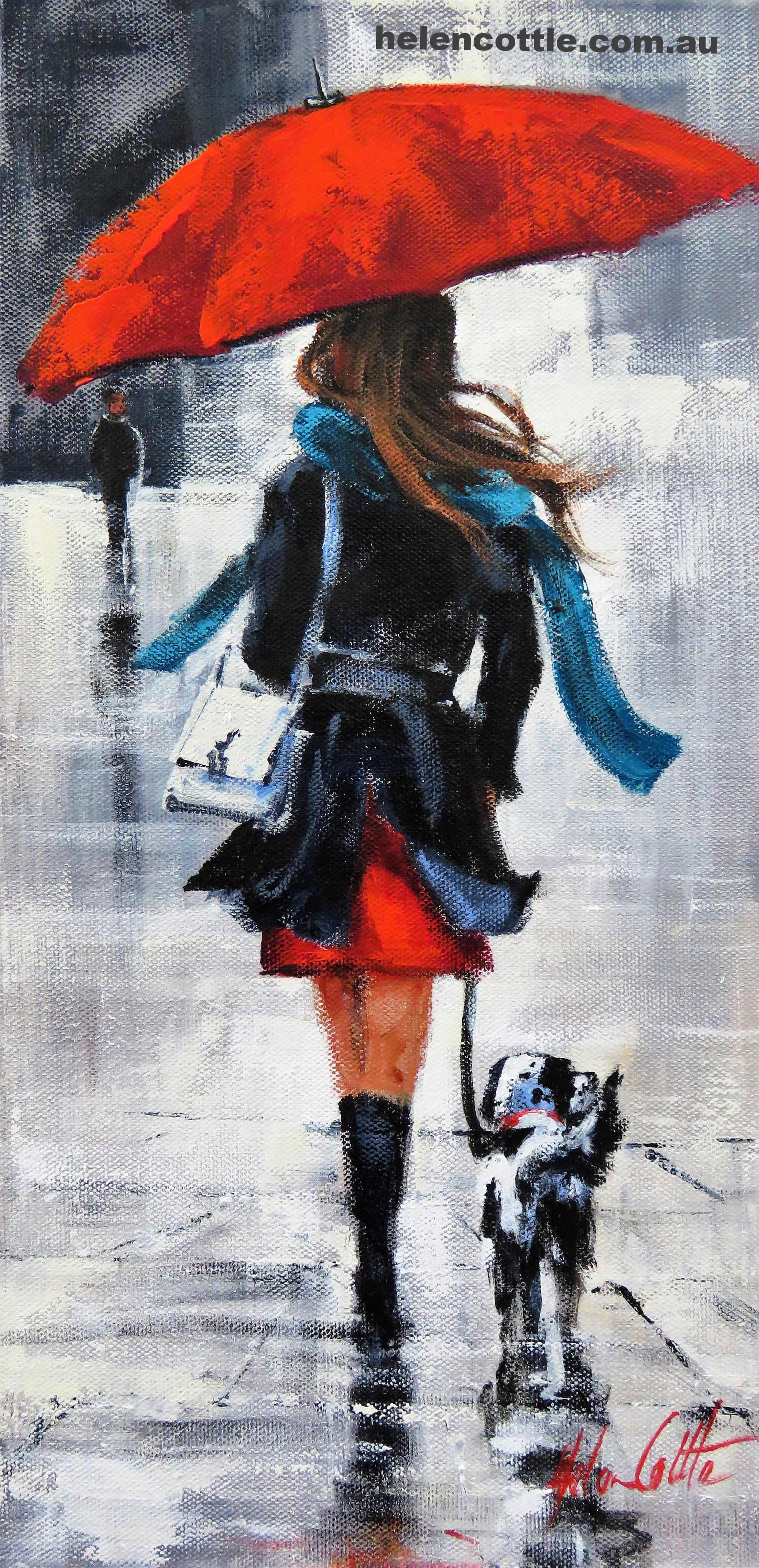 Wednesday Walk Acrylic on canvas 40x20cm By Helen Cottle.JPG