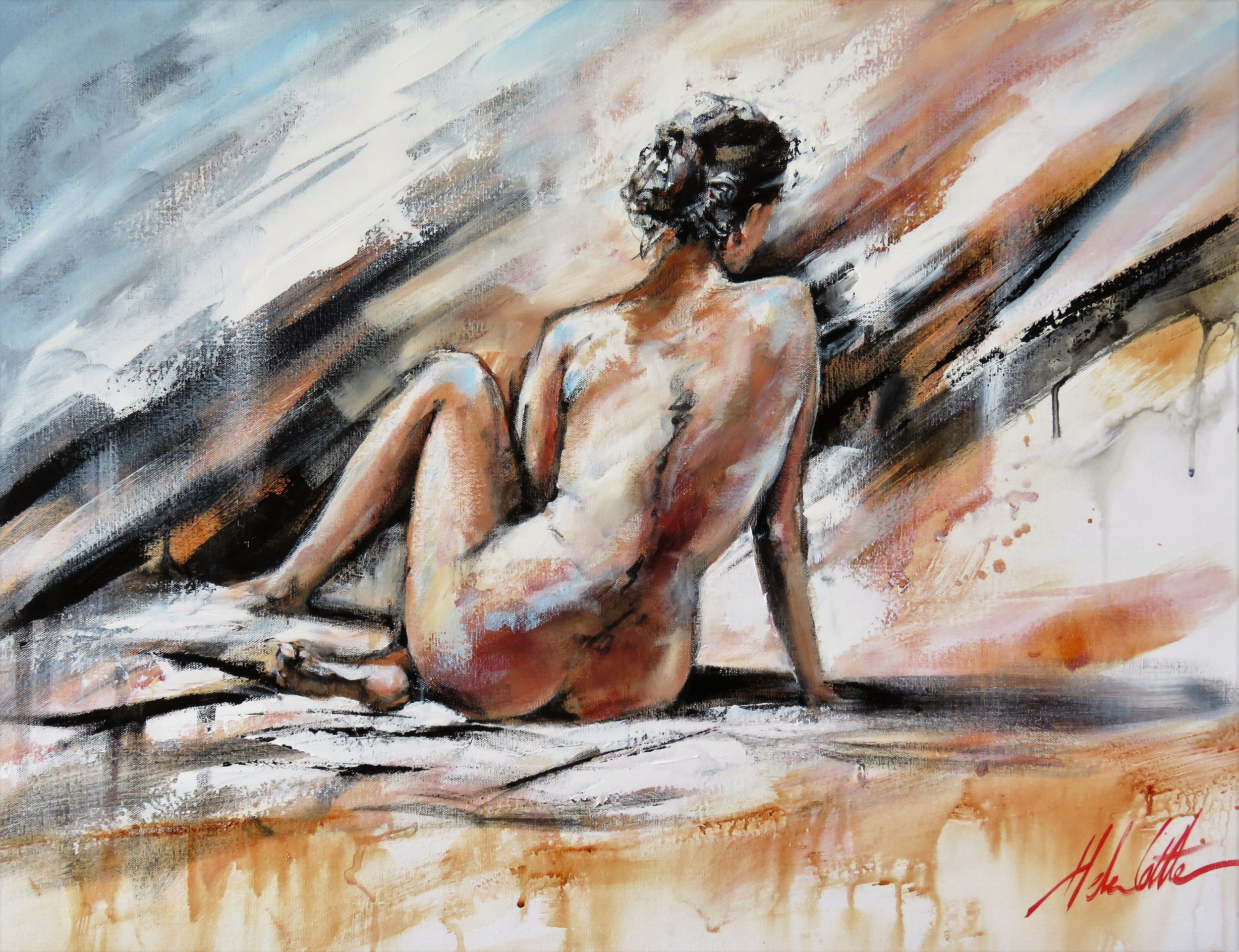 Nude Acrylic 60x80cm By Helen Cottle.JPG