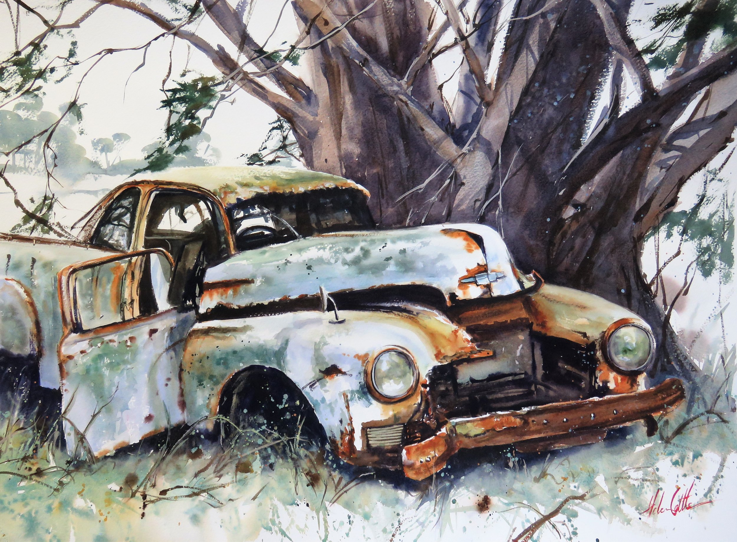 RUSTY RELIC WATERCOLOUR 74X96CM BY HELEN COTTLE.JPG