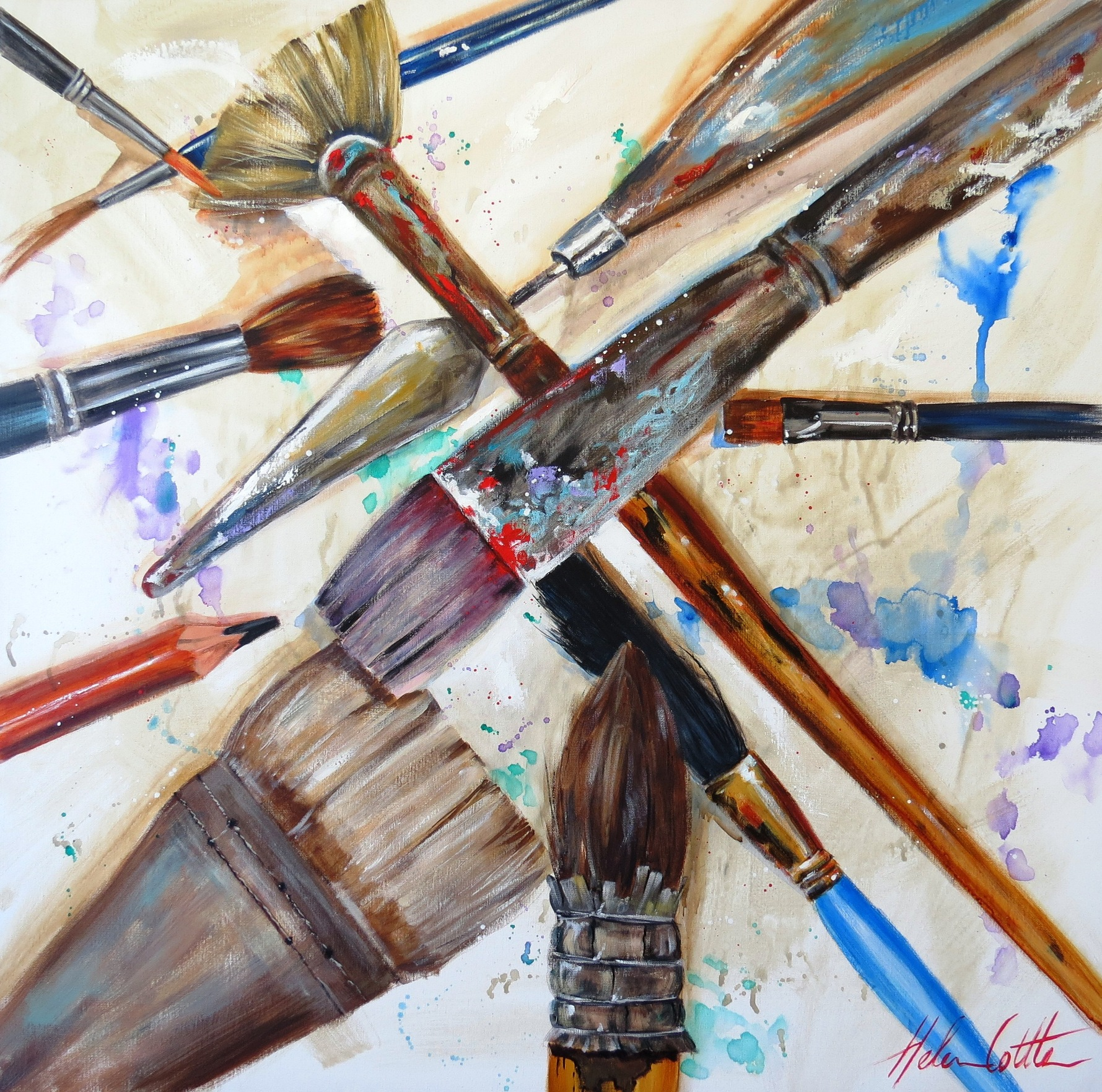 TOOLS OF THE TRADE  ACRYLIC ON CANVAS 90X90CM BY HELEN COTTLE lres.jpg