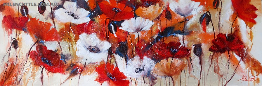 FLORAL FRENZY ACRYLIC AND TEXTURE ON LINEN 60X180CM BY HELEN COTTLE COPY.jpg