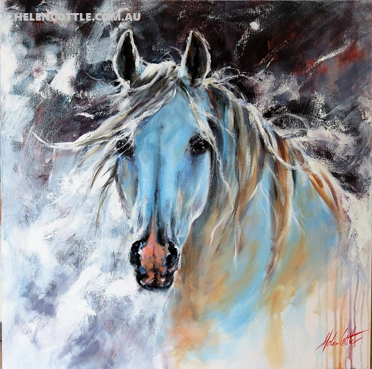Equine series acrylic 90x90cm  By Helen Cottle COPY.jpg