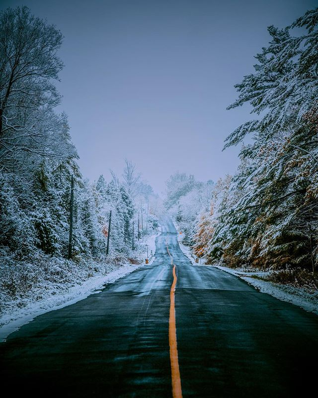 We have this rule. First snow means you can play Christmas music. Too early?