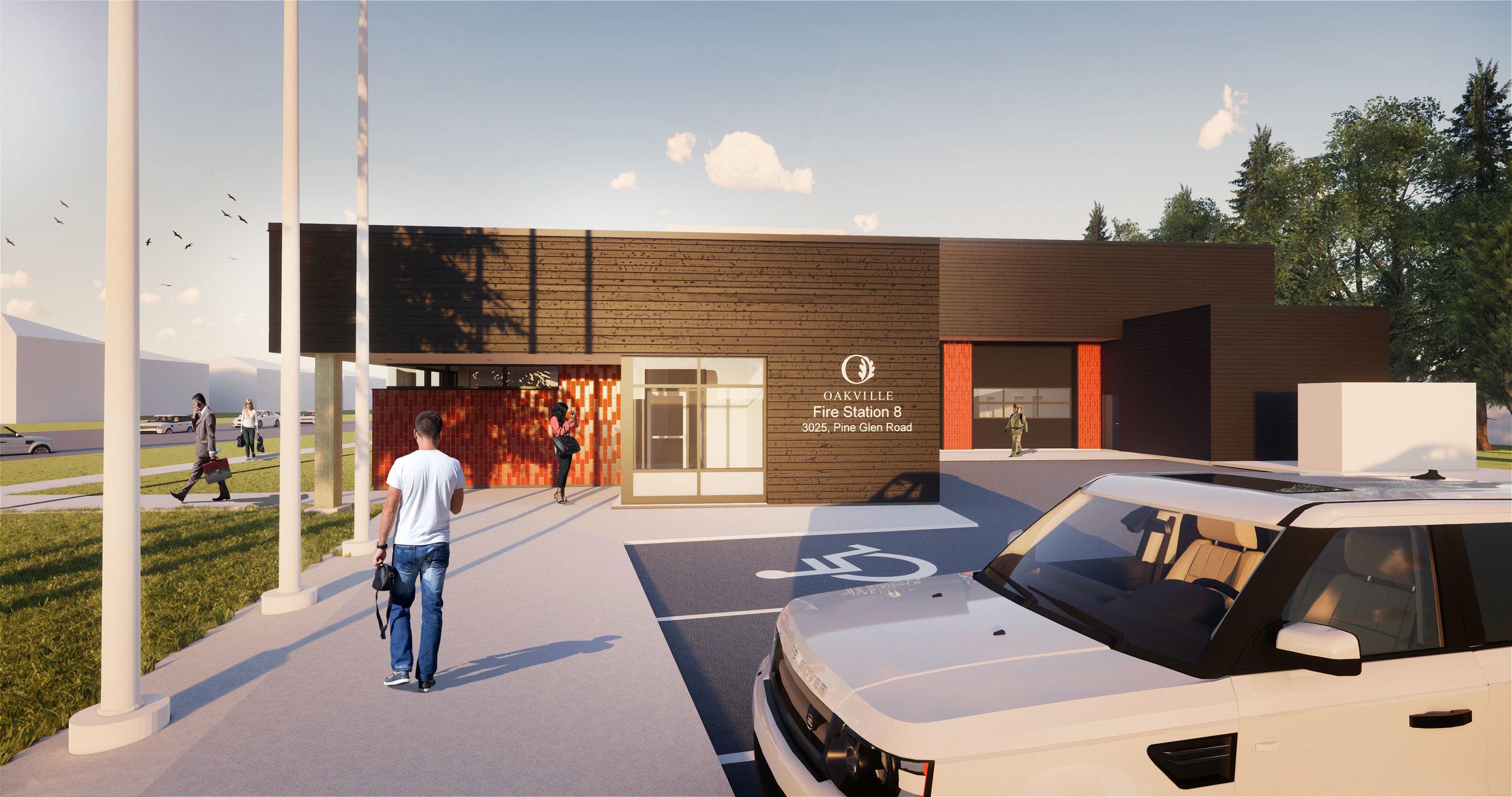 Oakville Firehall No8 Entrance Render.JPG