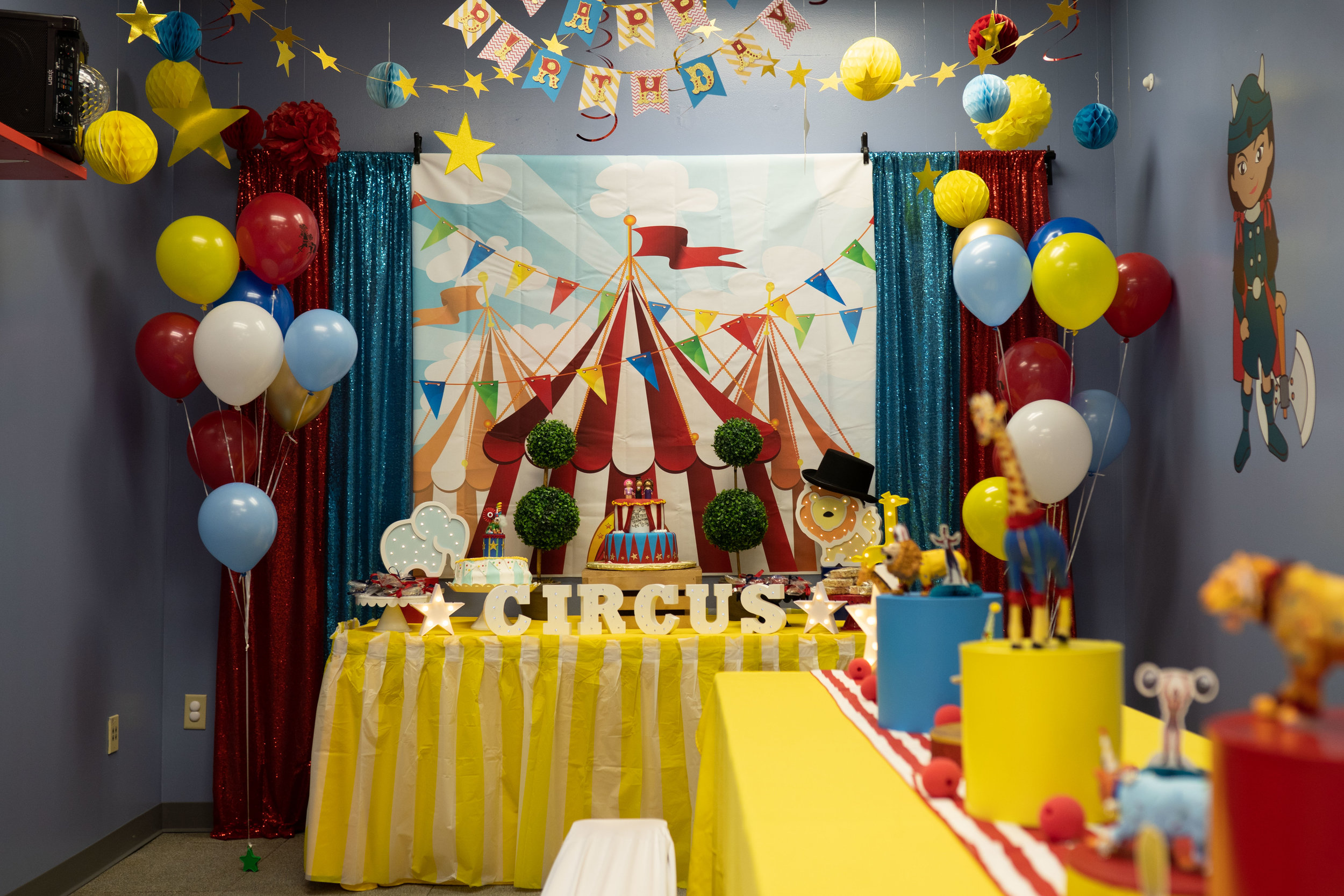 circus theme birthday party orlando fl