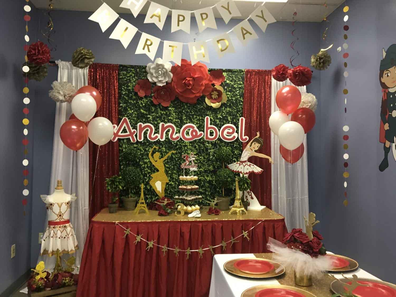 Christmas Birthday Party Idea.3 Year Old Birthday Girl S Leap Ballerina Party Princesses