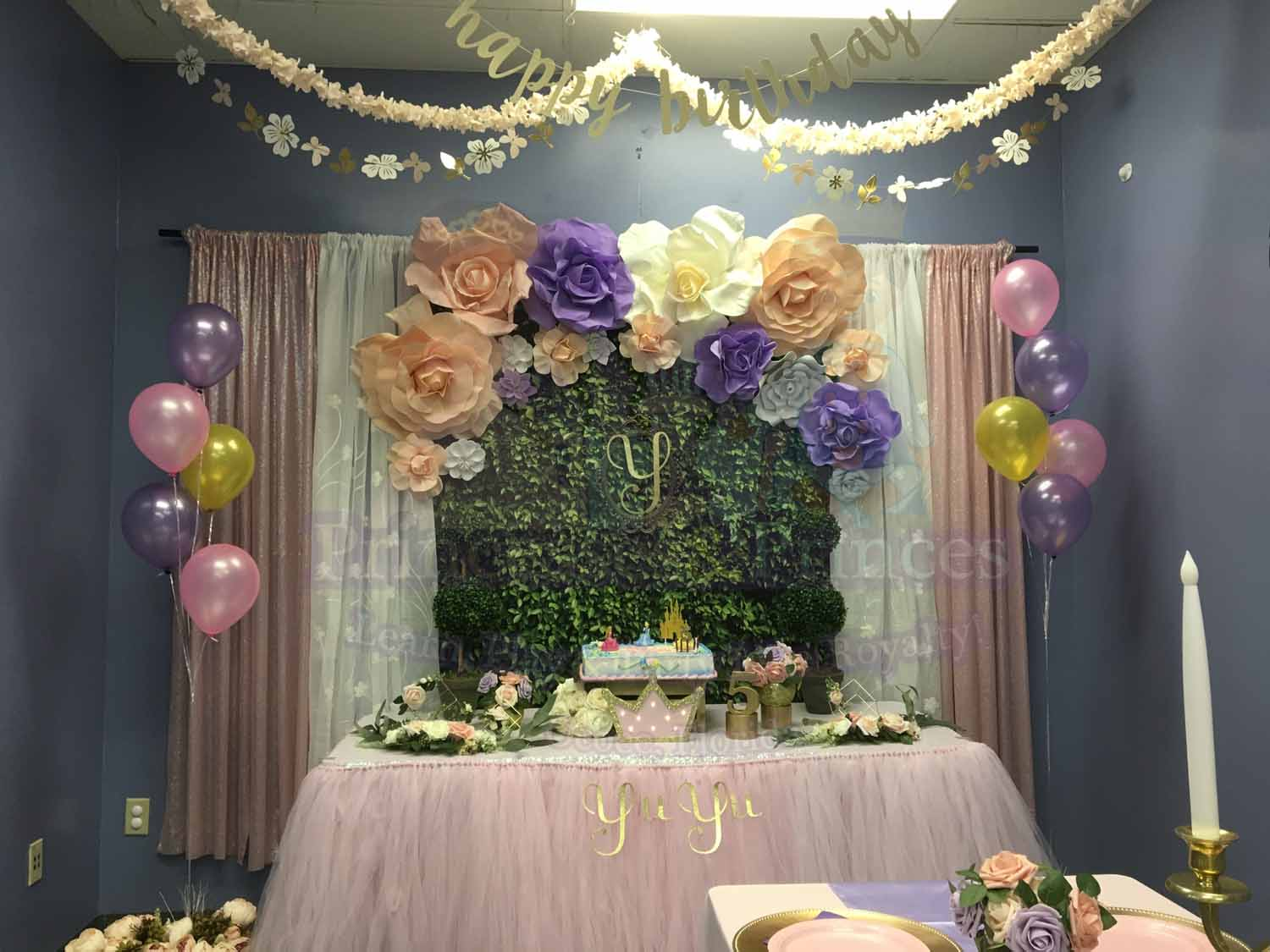 Enchanted Garden Birthday Party Decorations Princesses Princes