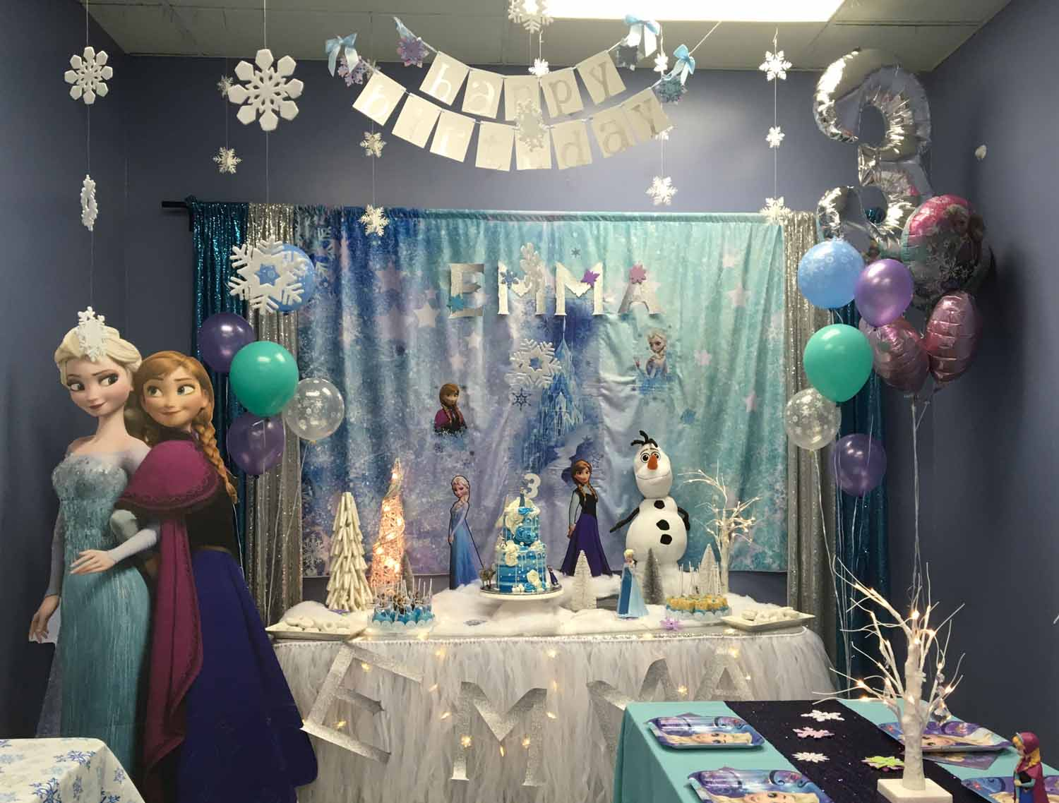 frozen themed birthday party in orlando florida - princesses and princes