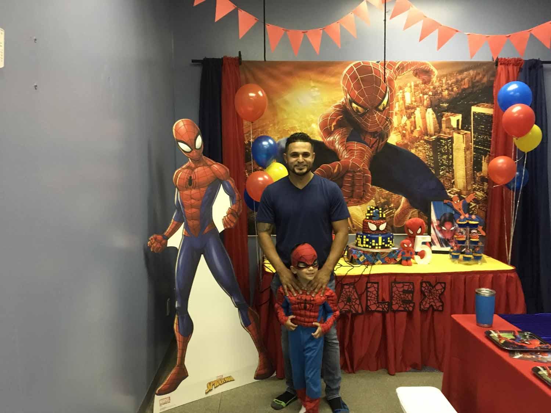 spider man themed birthday party for 5 year old boy orlando florida (8).jpg