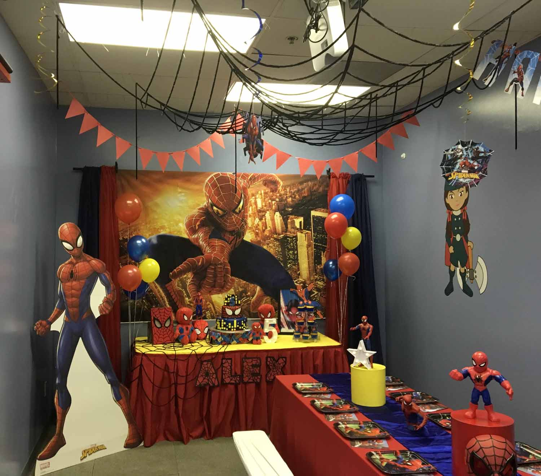 spider man themed birthday party for 5 year old boy orlando florida (14).jpg