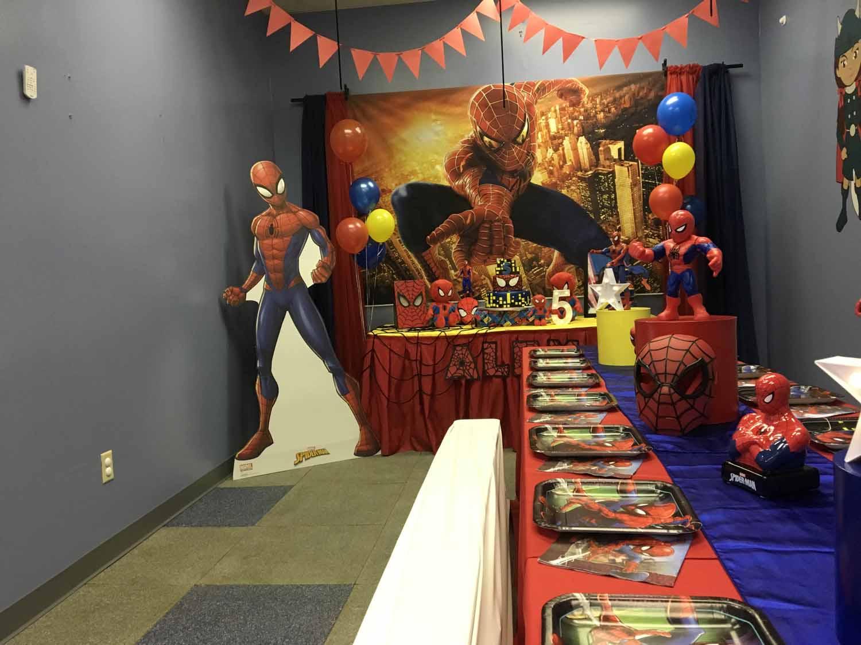spider man themed birthday party for 5 year old boy orlando florida (15).jpg