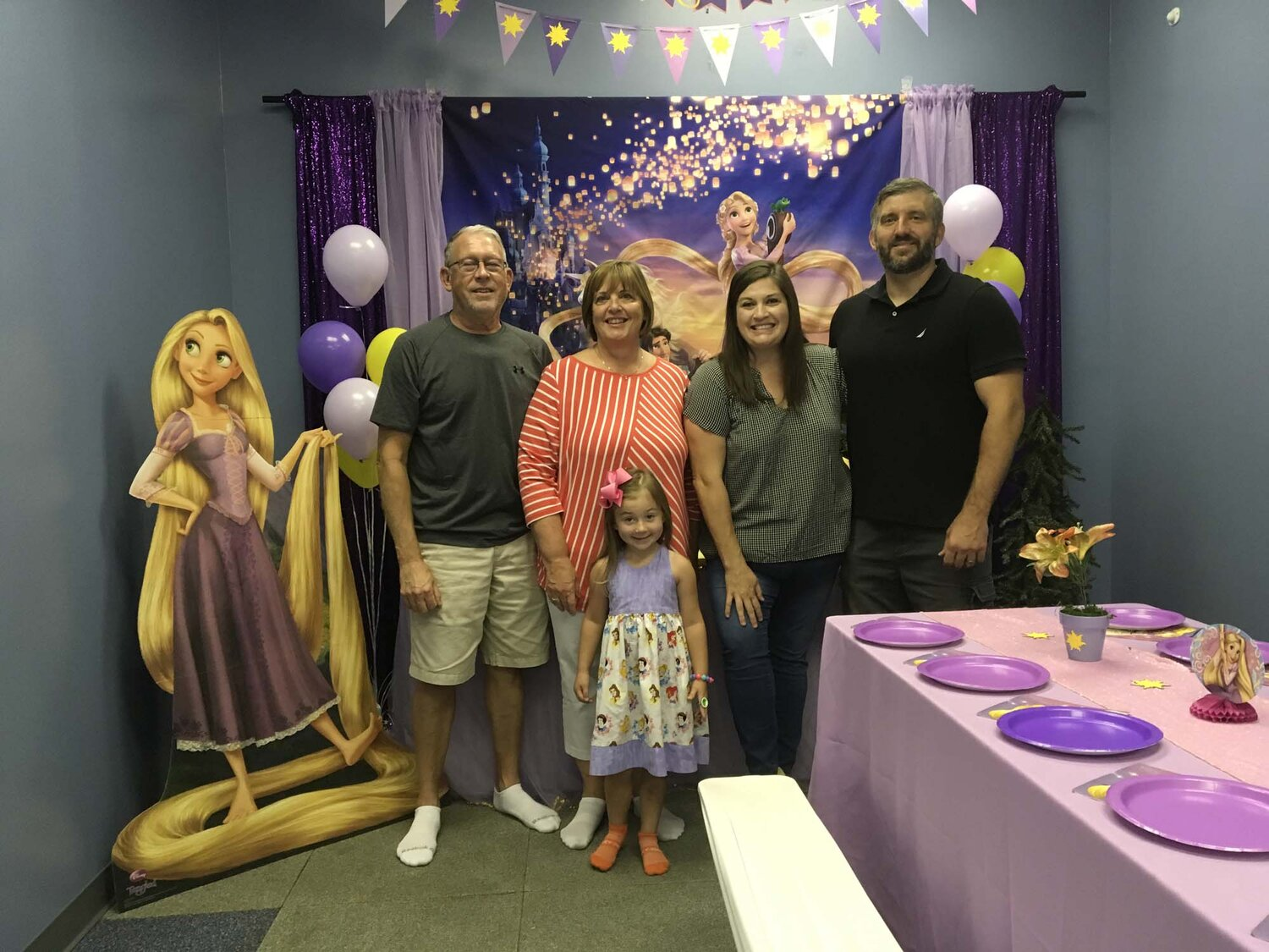 Orlando FL Rapunzel Themed Birthday Party For 4 Year Old Girl