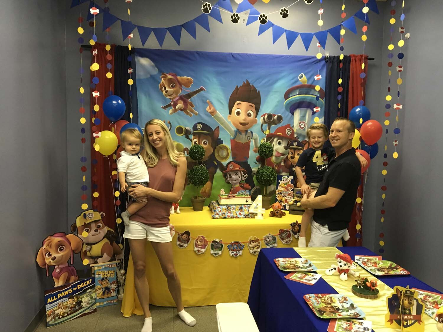 paw patrol 4 year old boy birthday party orlando fl
