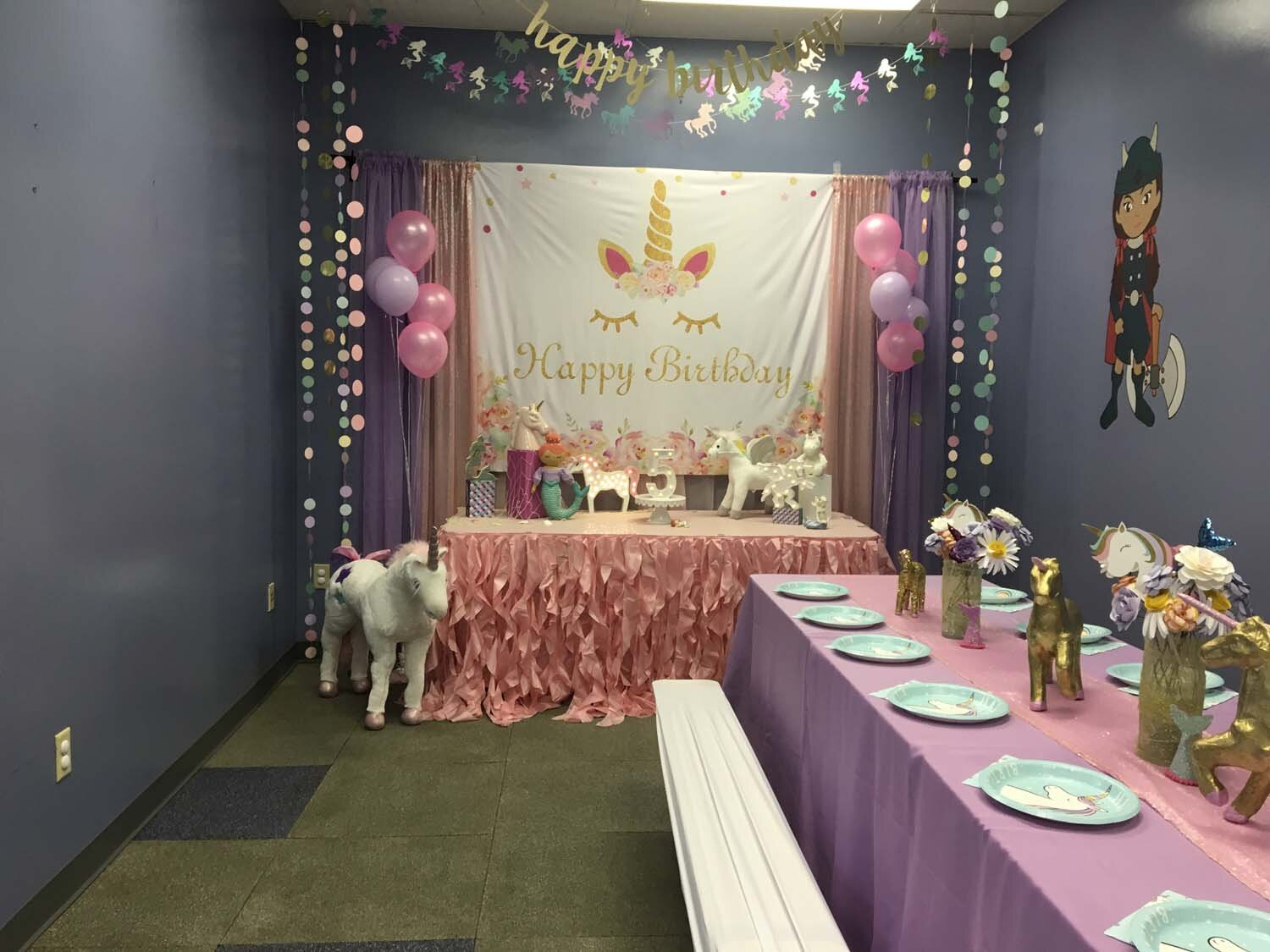 Girl's Unicorn Themed Birthday Party Orlando FL