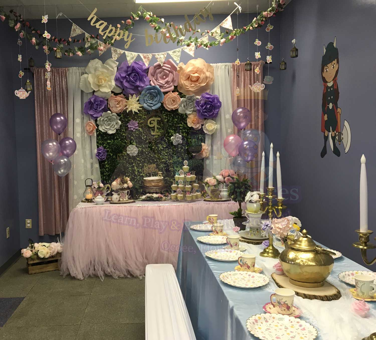 Enchanted Garden Tea Party Birthday Party Decorations Princesses Princes