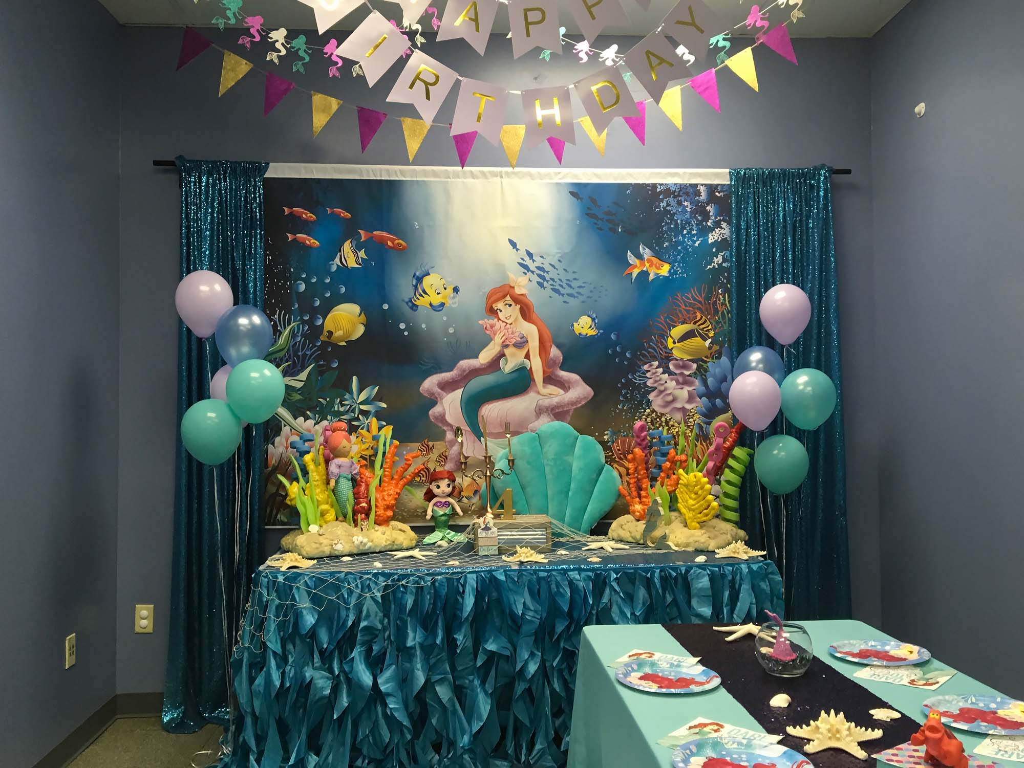 Mermaid Birthday Party For 4 Year Old Girl Held At Orlando