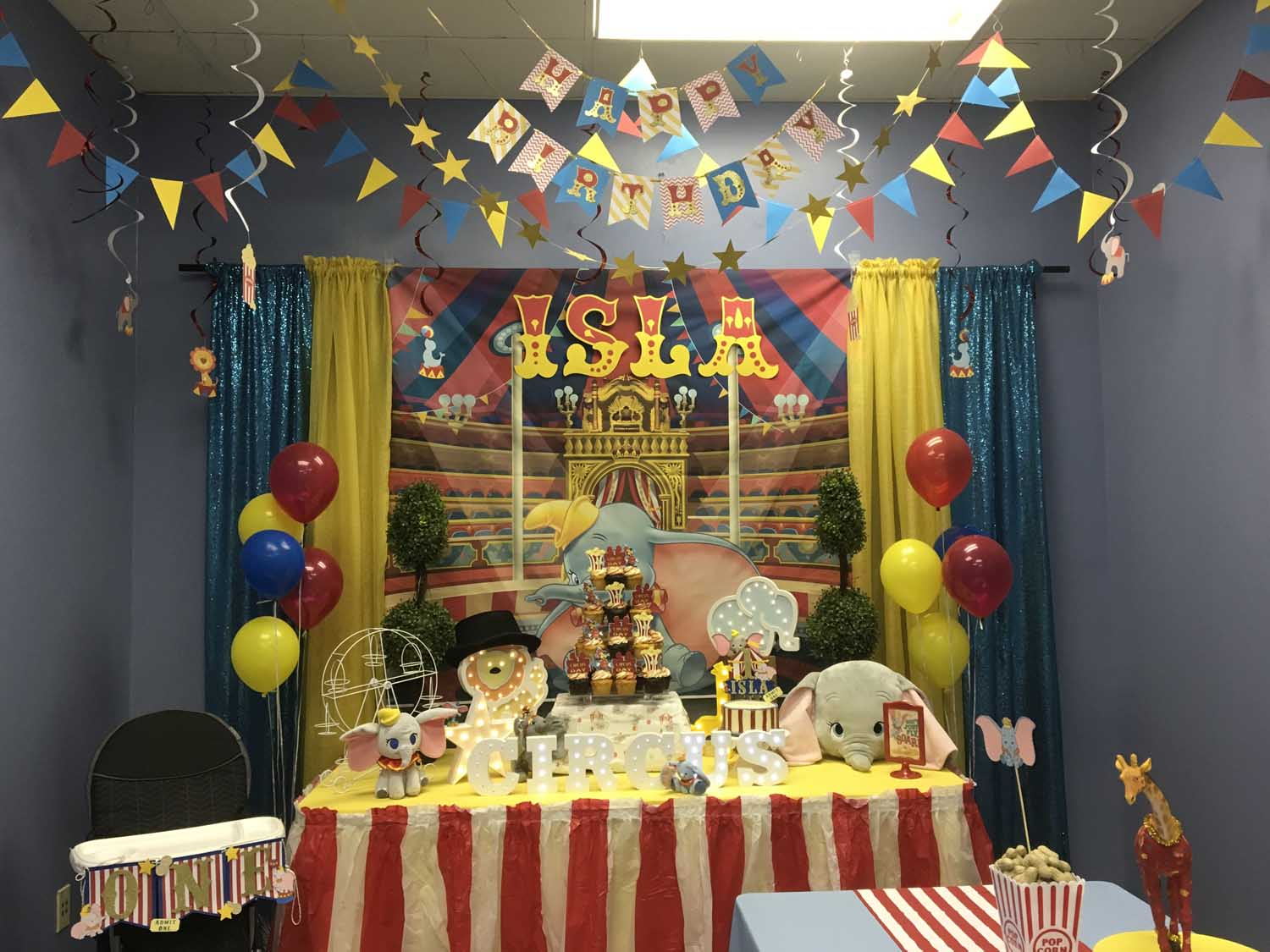 Dumbo Themed 1st Birthday Party Hosted at our Orlando area indoor playground