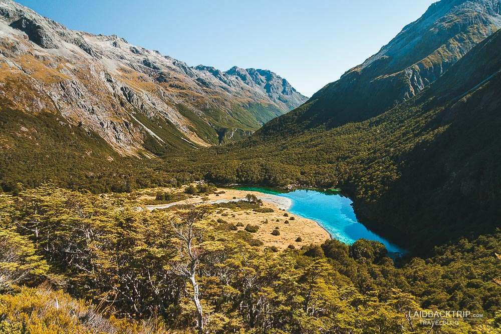 Beautiful Blue Lake in Travers-Sabine Circuit is one of the most cleanest lakes in the world