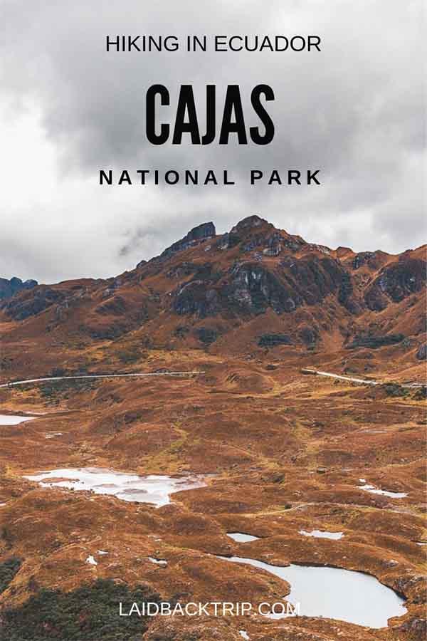Hiking in Cajas National Park, Ecuador