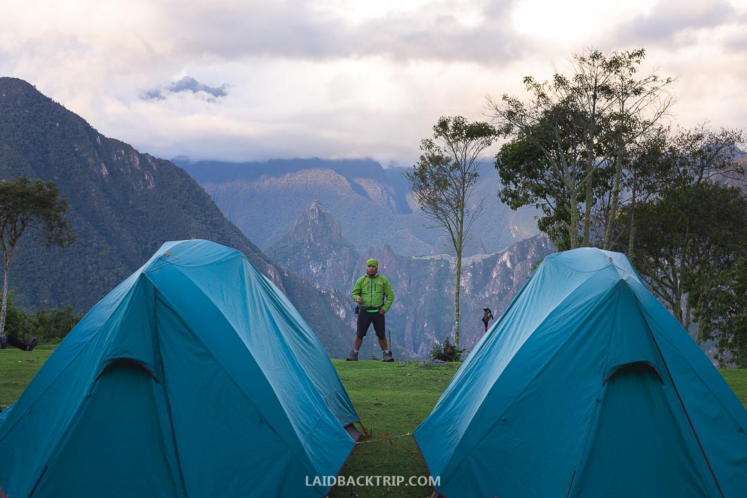 The view of Machu Picchu from our campsite on Salkantay Trek was spectacular