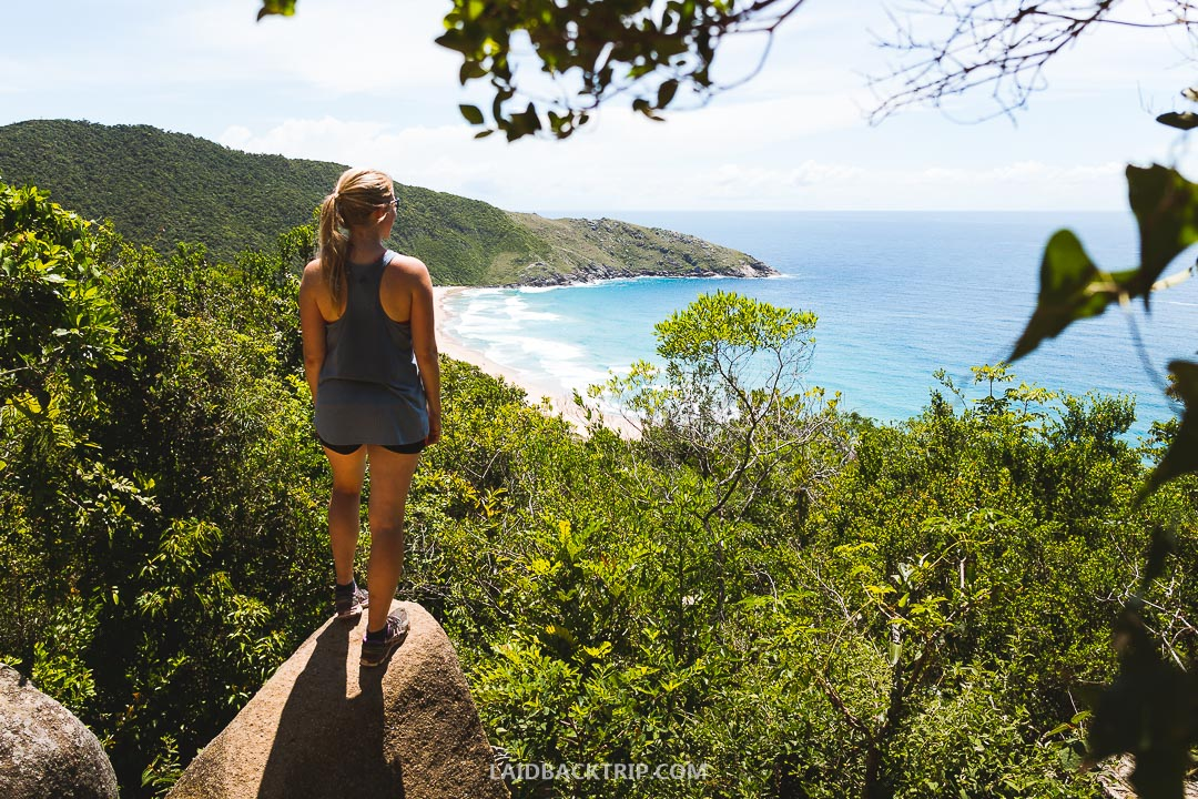 Visiting amazing Lagoinha do Leste beach on Florianopolis island is must-do.