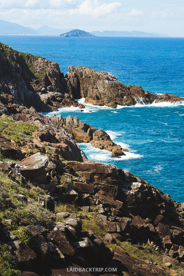 One of the best things to do on Florianopolis island in Brazil is hiking to Lagoinha do Leste beach.