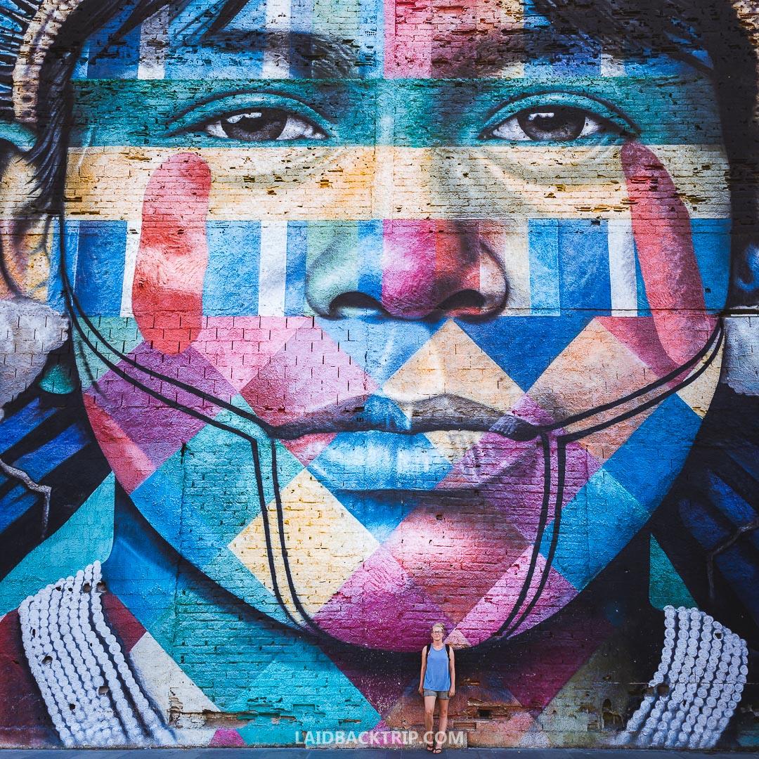 You will find street art everywhere in Rio de Janeiro.