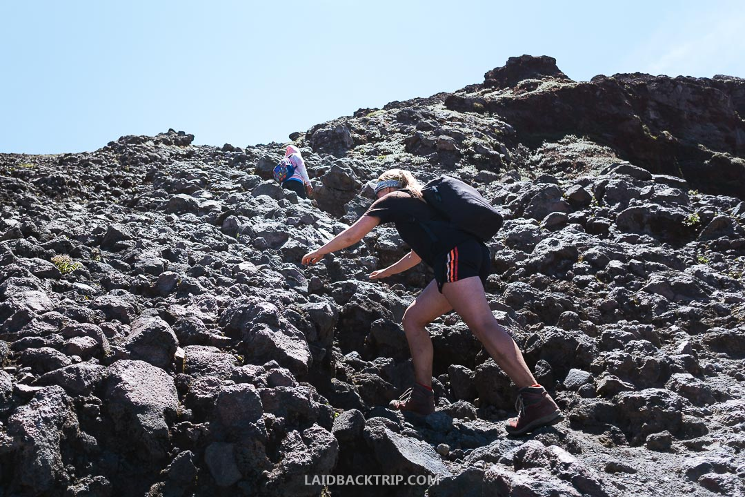 Hike to Concepcion Volcano is not easy.