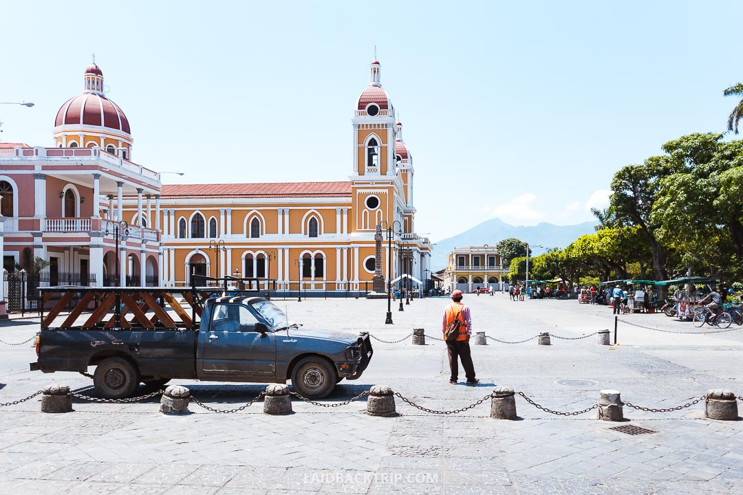 Granada is our favorite city in Nicaragua thanks to its positive vibes and colonial architecture.