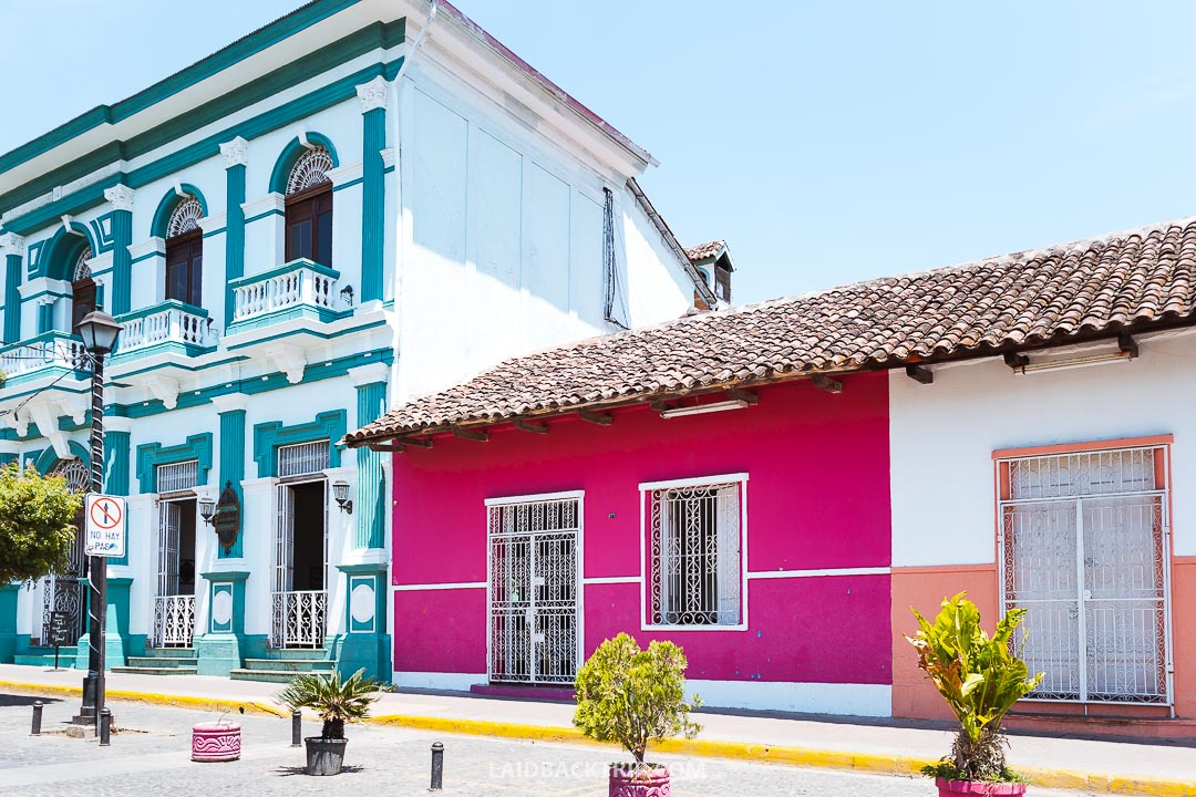 You can admire the colonial history and architecture in Granada, Nicaragua.