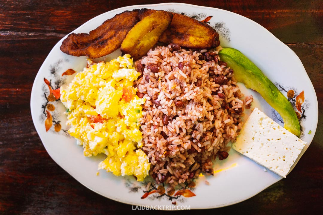 Food in Nicaragua is cheap and good.