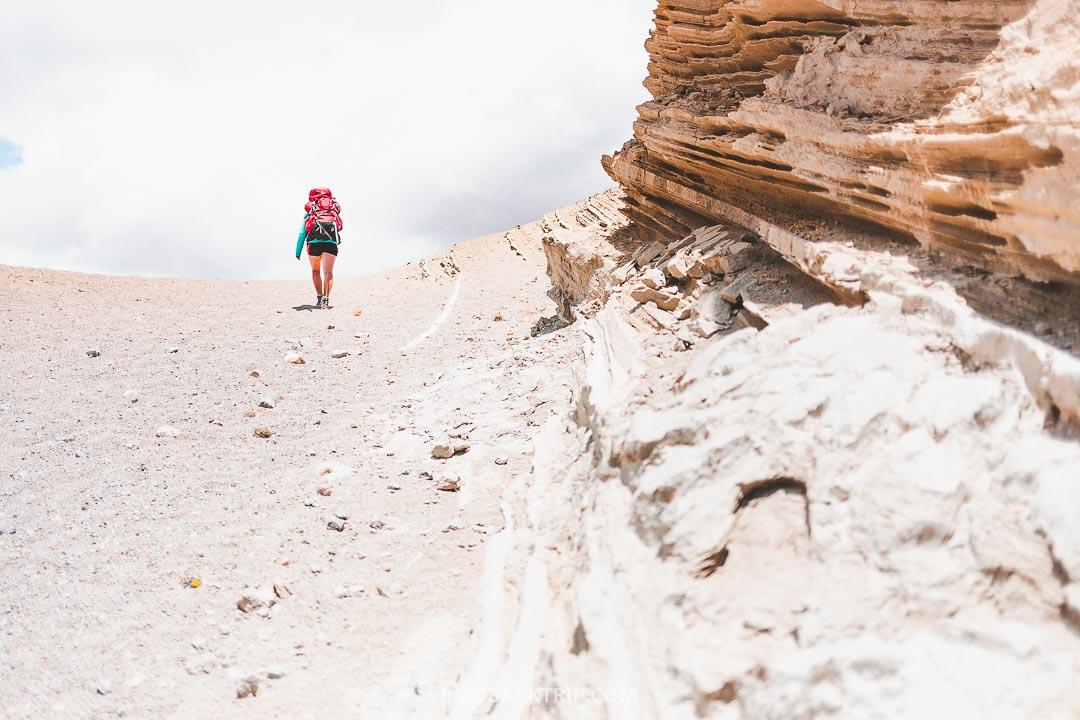 Quilotoa Loop is difficult hike in Ecuador.