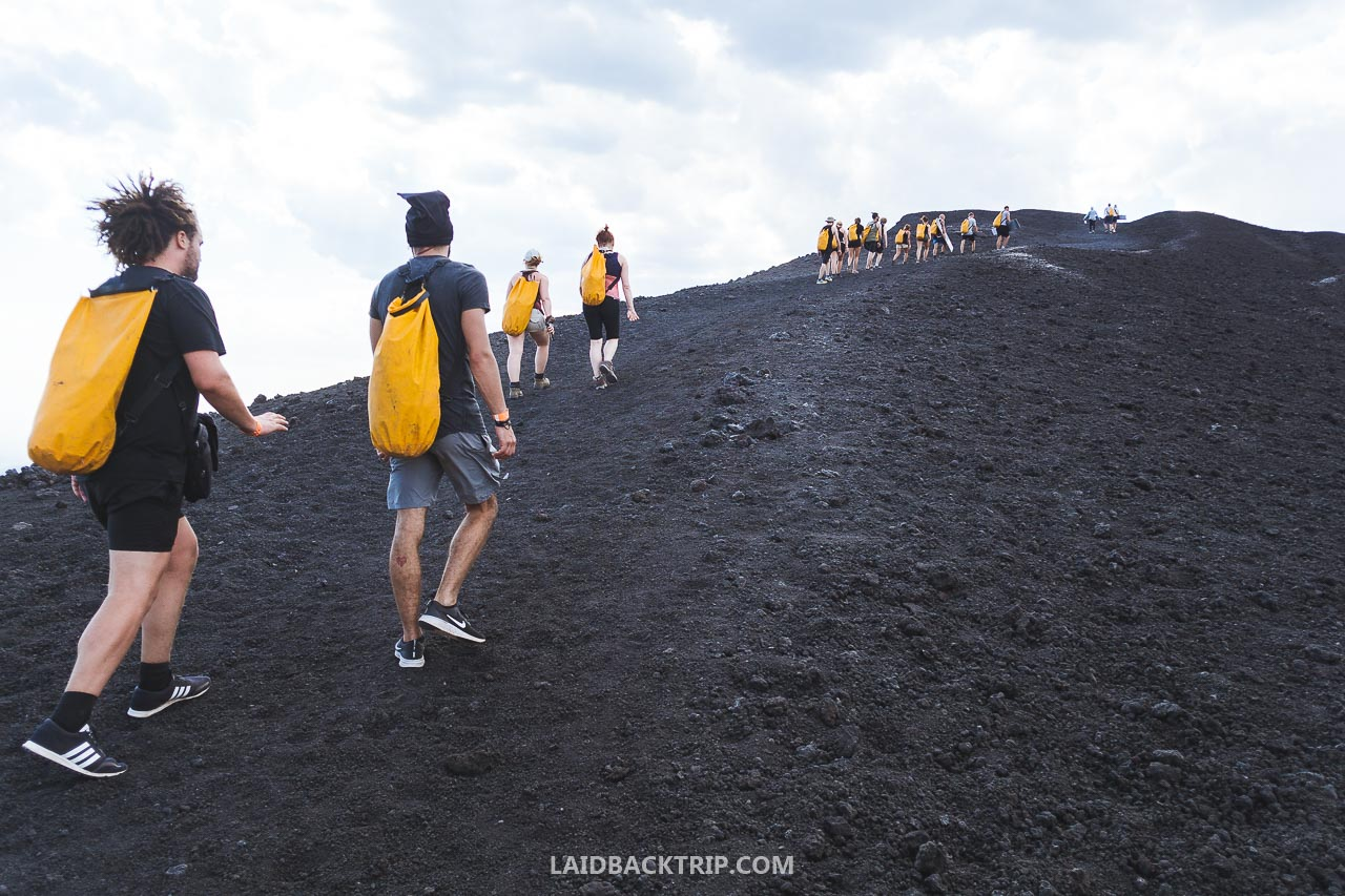 It's a moderate hike to Cerro Negro.
