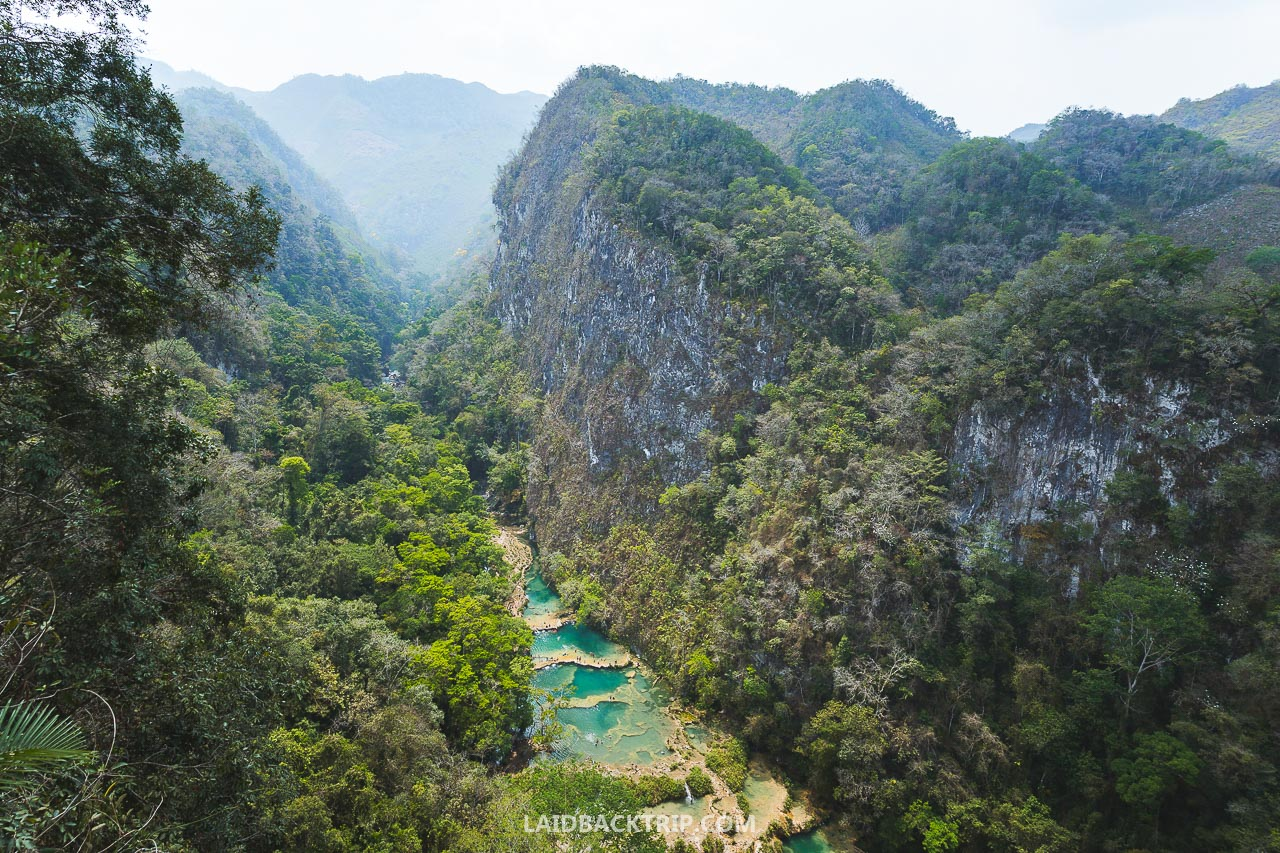 Visiting Semuc Champey, Guatemala is one of the best outdoor activities and adventures to do in Central America.