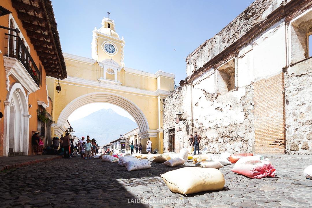 Antigua, Guatemala is a popular tourist town.