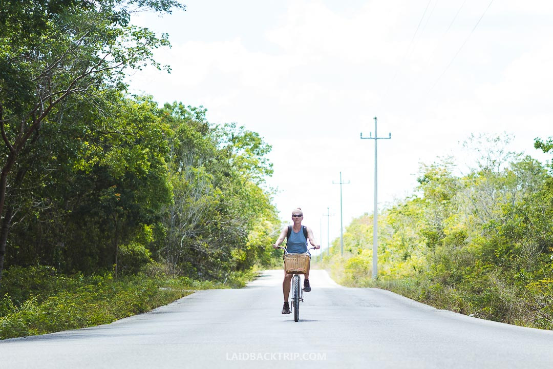 You can ride on a bike to Cenotes.