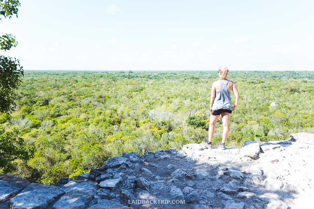 Coba Ruins is a famous Mayan historical site in Mexico.