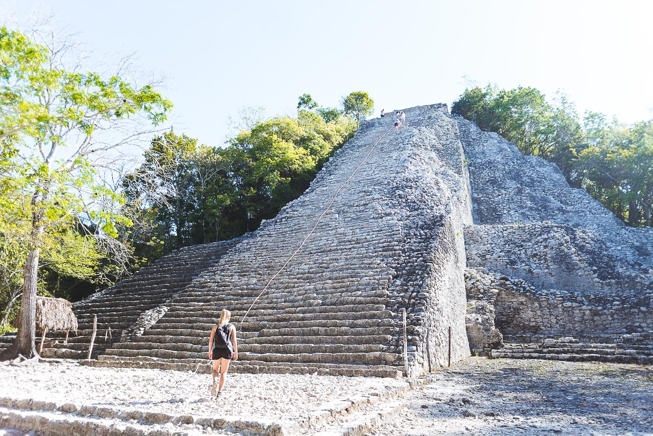 Read our travel guide to Coba ruins and nearby Cenotes, one of the best things to do in Yucatan, Mexico