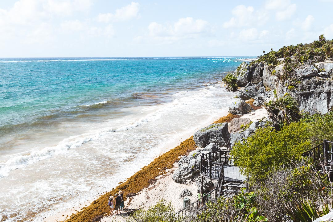 Tulum Ruins is located near the Carribean sea.