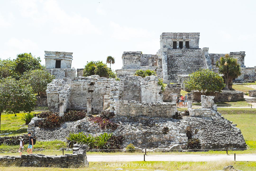You can walk to Tulum Ruins from the city.