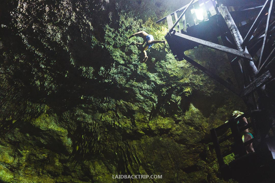 Cenotes Tamcach-Ha, Choo-Ha, and Multum-Ha are worth visiting while road tripping Yucatan, Mexico.