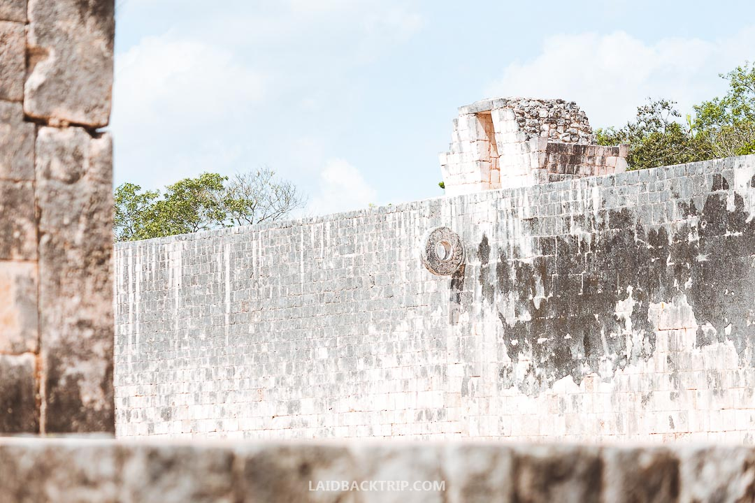 The ball court is the biggest structure in Chichen Itza.