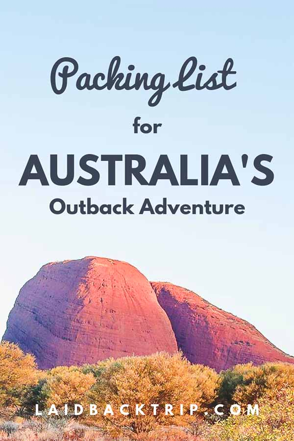 Uluru Packing List