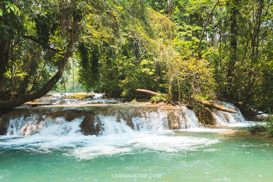 Agua Azul, Mexico is considered safe to visit from Palenque.