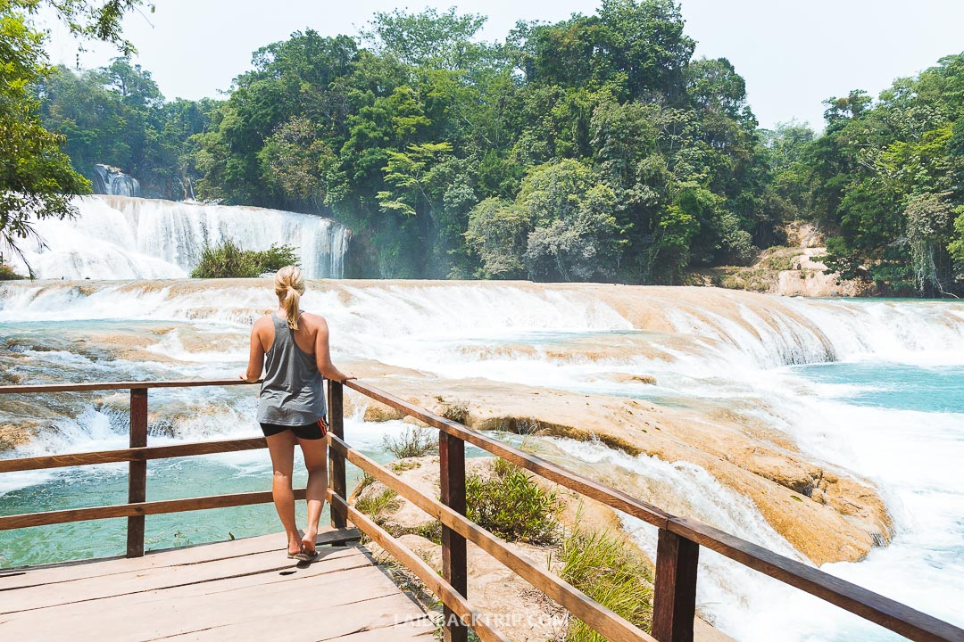 Agua Azul, Mexico offers amazing views, and you can hike around the river.