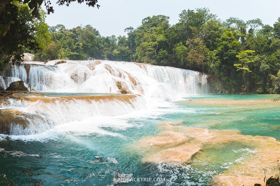 Bring a swimsuit to Agua Azul waterfalls.