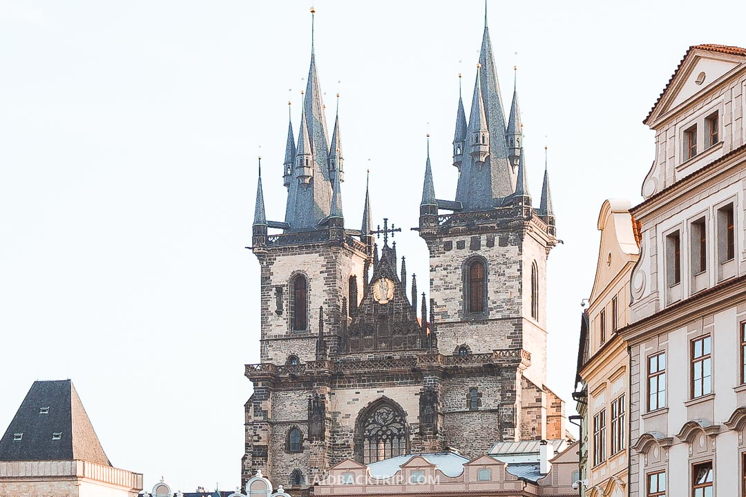 Gothic Church of Our Lady Before Tyn is a beautiful building you can see on the Old Town Square.
