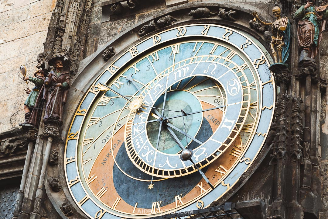 Astronomical Clock is a top tourist attraction on the Old Town Square, Prague.