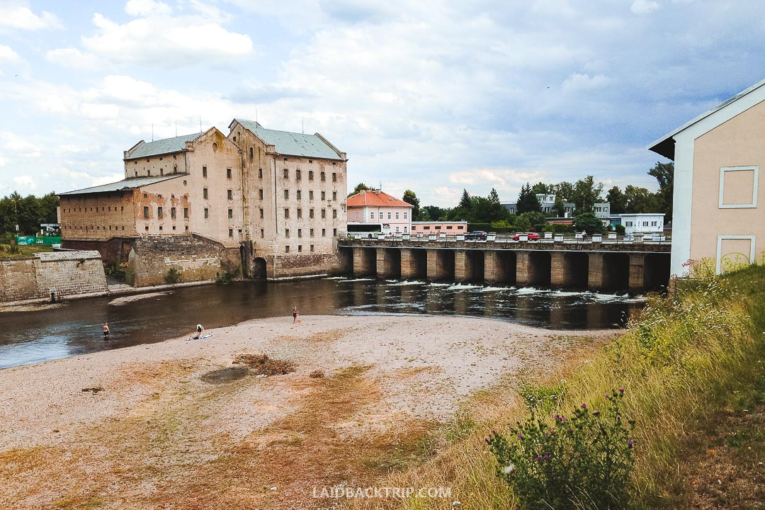 A river Ohre is flowing through Terezin town.