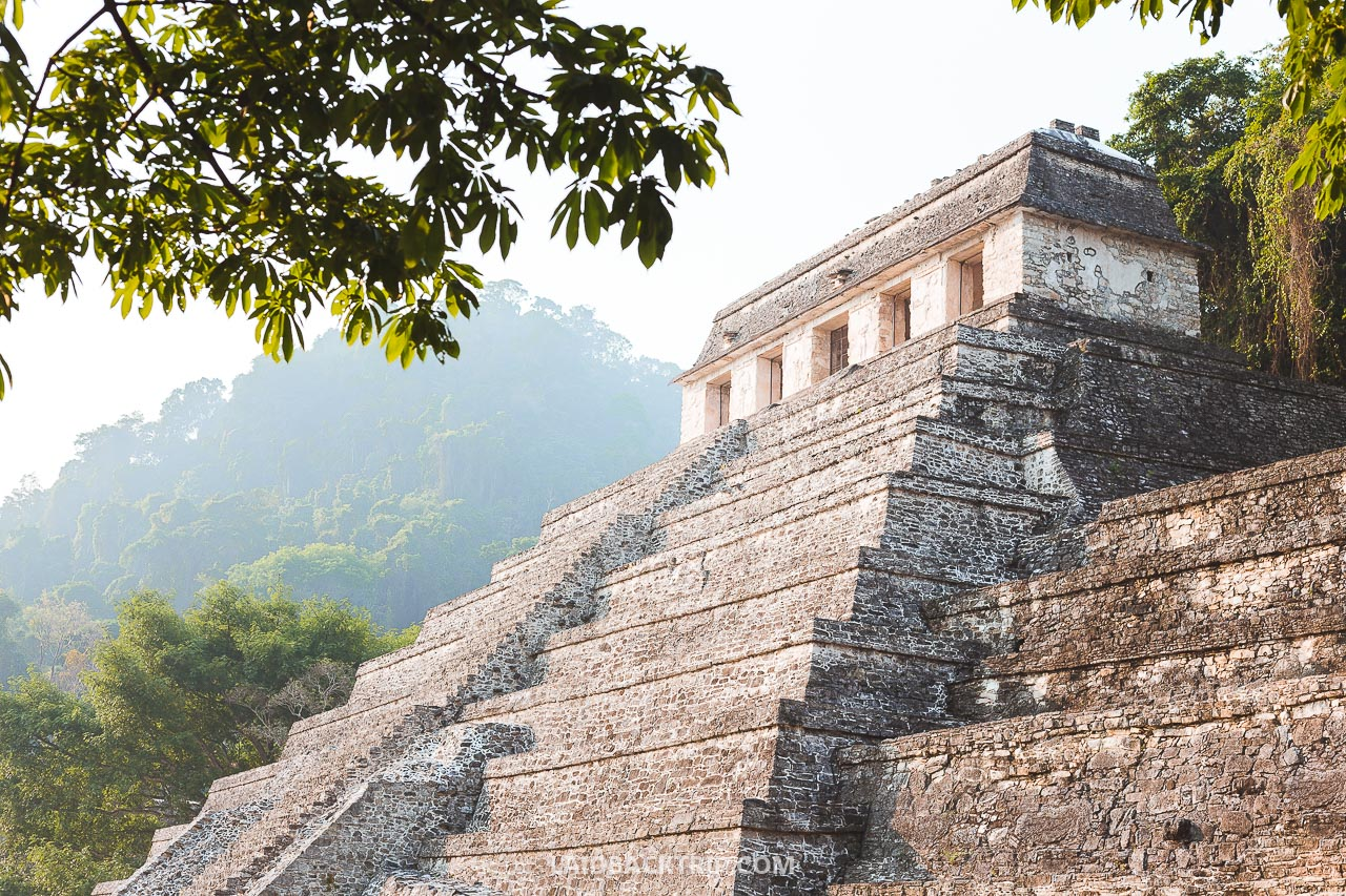 Palenque, Mexico is amazing Maya ruin in the jungle, and this is our travel guide including how to get there without a tour and safety tips.